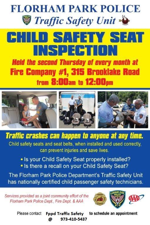 Florham Park PD - Child Safety Seat Inspection